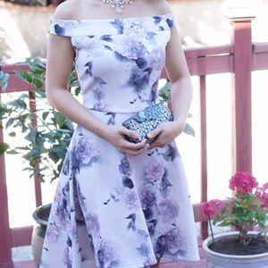 Dresses & Skirts - High Low Off Shoulder Flower Dress Size Small